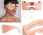 Female Hand Glasses Frames - Front, Profile, Interior Views
