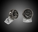 Black Rhodium Jet Turbine Engine Cufflinks