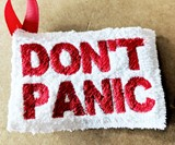 Don't Panic Keychain Towel
