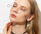 Half Frame Rhinestone Glasses