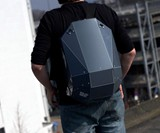 Solid Gray Hardshell Backpack