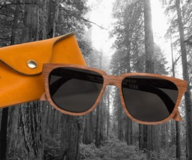 1,000 Year Old Reclaimed Redwood Sunglasses
