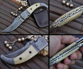 Mammoth Bone Pocket Knife