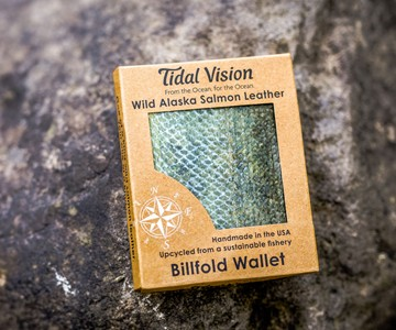 Alaska Salmon Leather Wallets