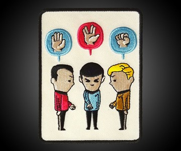 Rock, Paper, Scissors Star Trek Patch