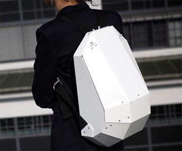 Solid Gray Hardshell Backpack