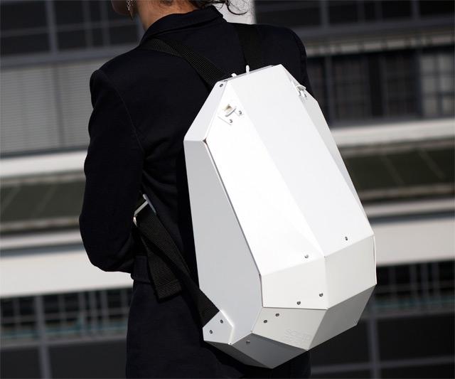 Solid Gray Hardshell Backpack | DudeIWantThat.com