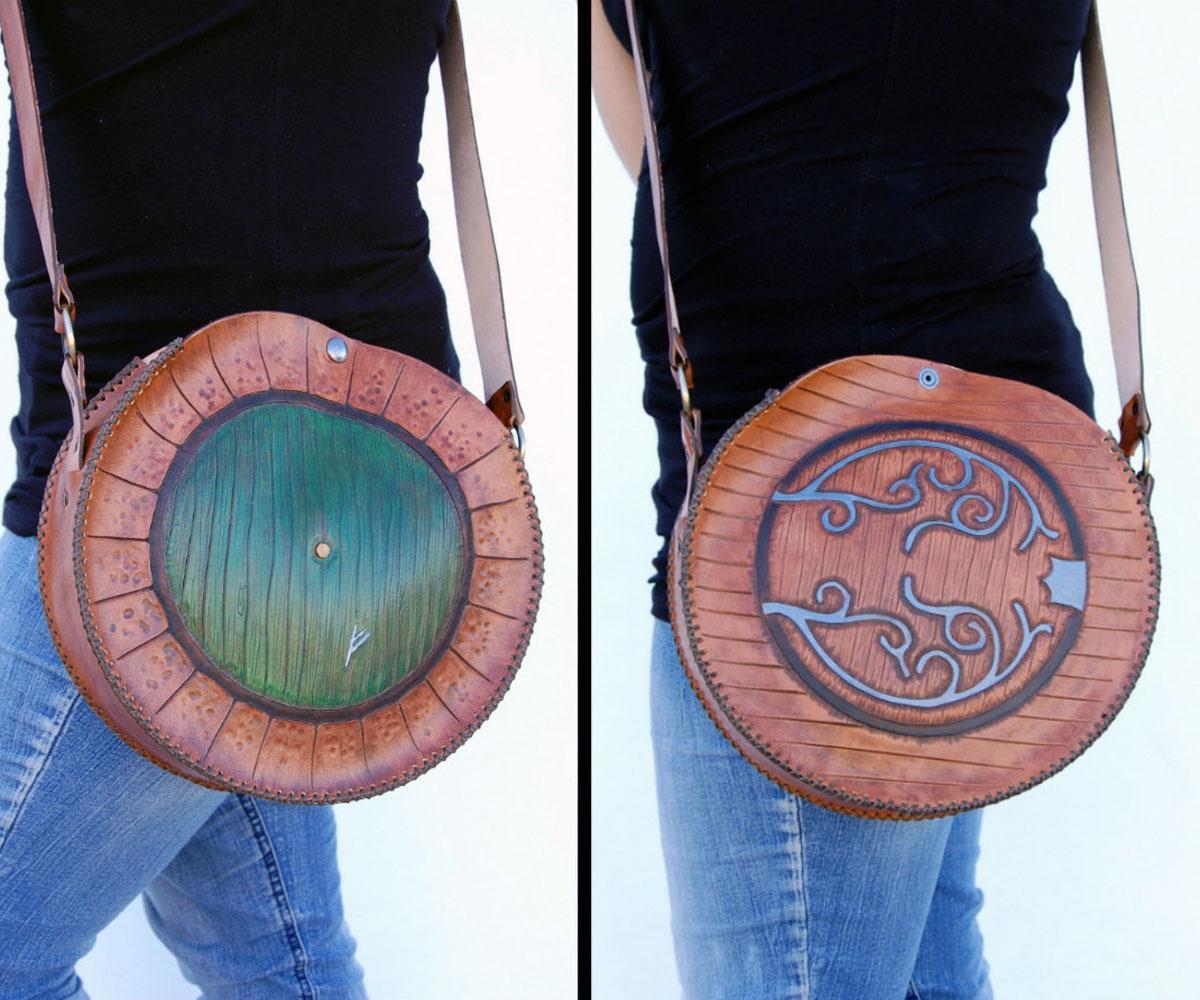 Door to Bag End - Hobbit-Hole Leather Bag