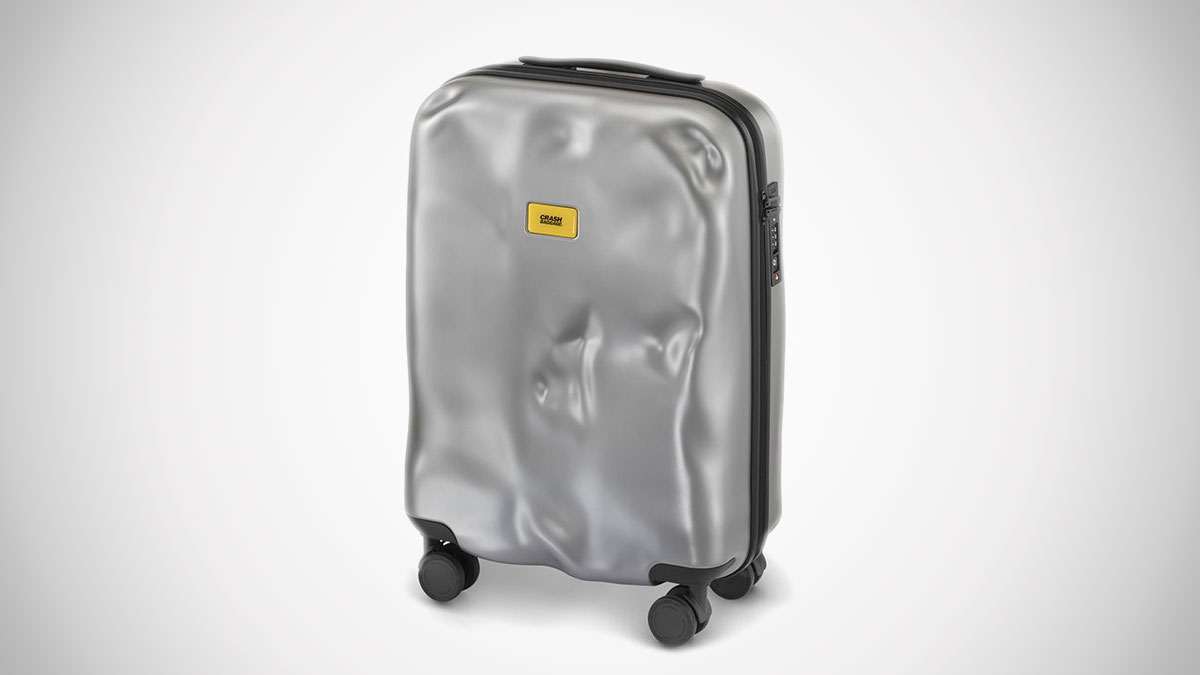Crash Baggage Icon Busted-Up Suitcase