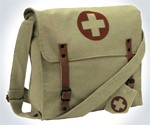 Vintage Style Medic Messenger Bag