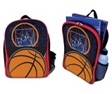 Basketball Backpack - Front and Profile Views