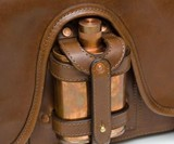 Jacob Bromwell Leather Messenger Bag with Flask Holder