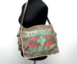 Zombie Survival Kit Messenger Bag in Green