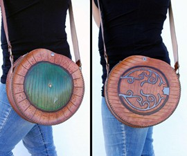 Door to Bag End - Hobbit-Hole Leather Bag