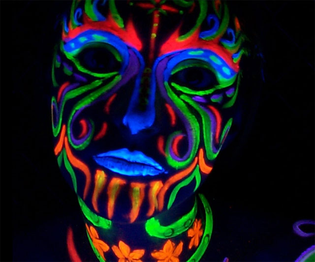 Neon Face Paint Sticks