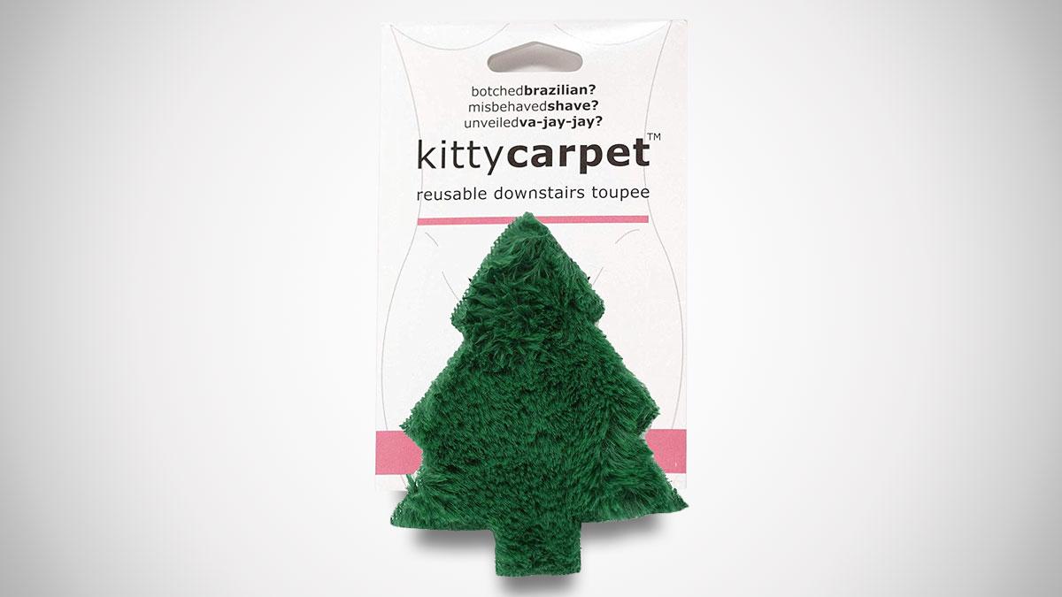Christmas Tree Kitty Carpet - Reusable Crotch Wig