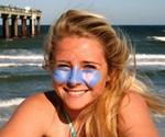 Girl Wearing Zinka Neon Sunscreen