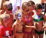 Kids Wearing Zinka Neon Sunscreen