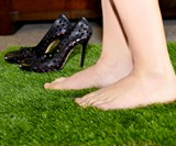 Anti-Fatigue Faux Grass Rug