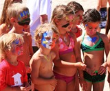 Kids Wearing Zinka Neon Sunscreen