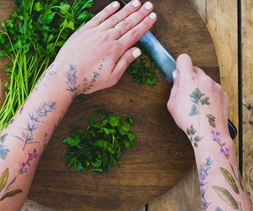 Scented Herb Temporary Tattoos