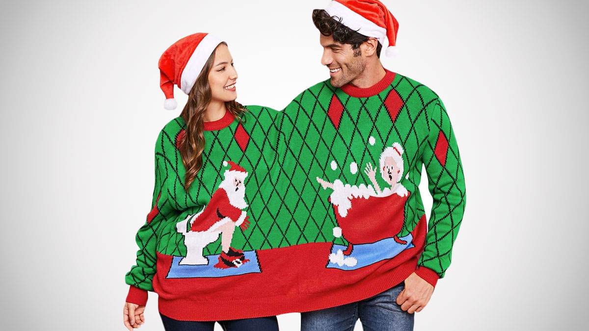 2 Person Ugly Christmas Sweaters Dudeiwantthatcom