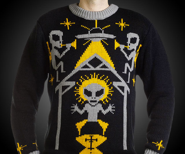 Alien Nativity Ugly Christmas Sweater | DudeIWantThat.com
