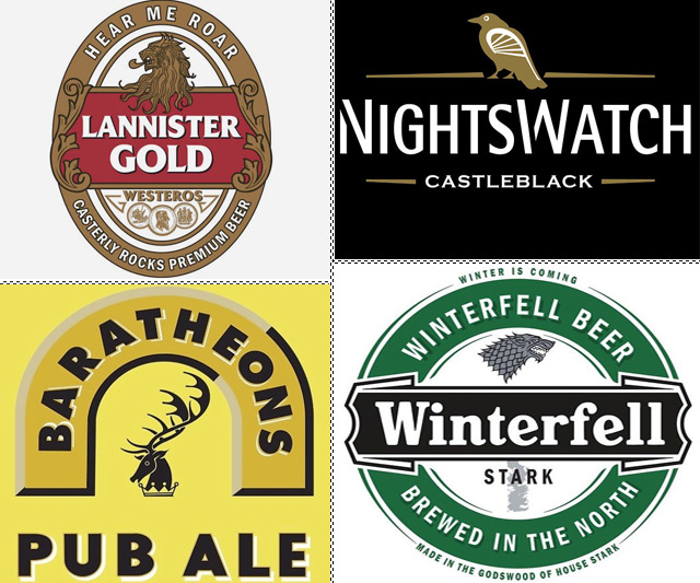 Game of Thrones Beer Label Shirts