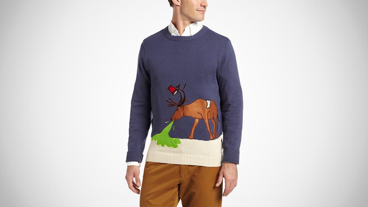 Reindeer Hangover Ugly Christmas Sweater