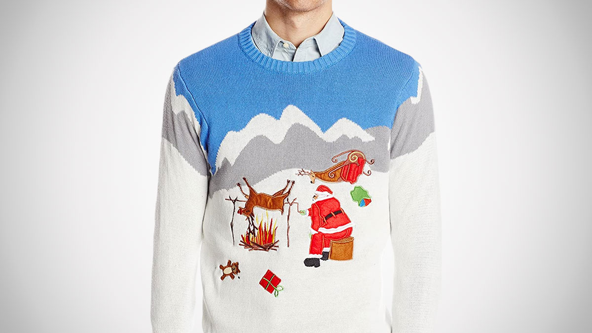 Reindeer on the Spit Ugly Christmas Sweater