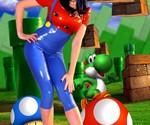 Super Mario Latex Dress-1007