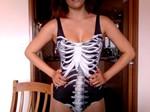 Black Skeleton Swimsuit-9429