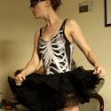 Black Skeleton Swimsuit