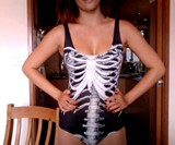 Black Skeleton Swimsuit-9429