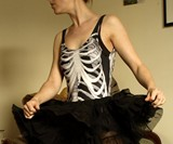 Black Skeleton Swimsuit