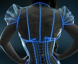 Sexy TRON Outfit-3102