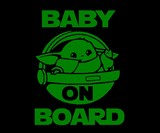 Baby Yoda Baby on Board Windshield Decal