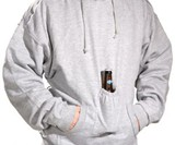 Beer Pouch Sweatshirt - Closeup View