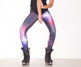 Galaxy Purple Leggings Closeup