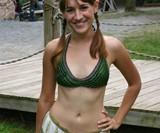 Green Chainmail Bikini Top