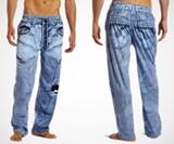Men's Faux Denim Pajama Pants