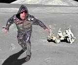 Reversible Disco Hoodie on the Moon