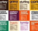 Thanksgiving Dinner Nutrition Label Shirts