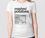 Thanksgiving Dinner Nutrition Label Shirts