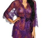 Women's Lace Kimono Robe