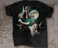3 Hippopoticorn Moon T-Shirt