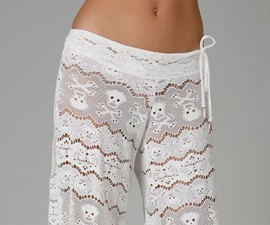 Lace Skull & Crossbones Pants