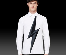 Lightning Bolt Button-Up Shirt