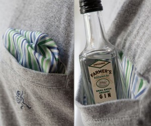 Built-in Pocket Square T-Shirt