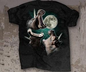 3 Hippopoticorn Moon T-Shirt